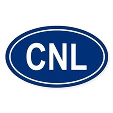 CNL Oval Decal