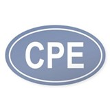 CPE Oval Decal