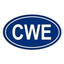 CWE Oval Decal