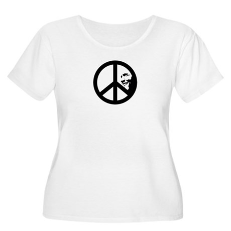 Obama for Peace Womens Plus Size Scoop Neck T-Shi