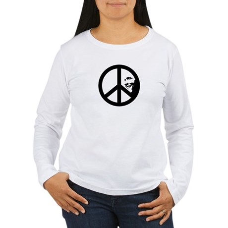 Obama for Peace Womens Long Sleeve T-Shirt
