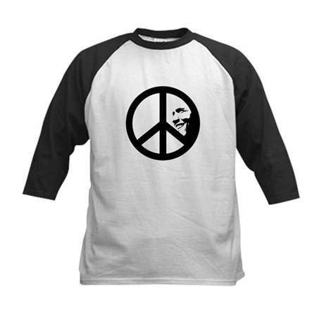 Obama for Peace Kids Baseball Jersey