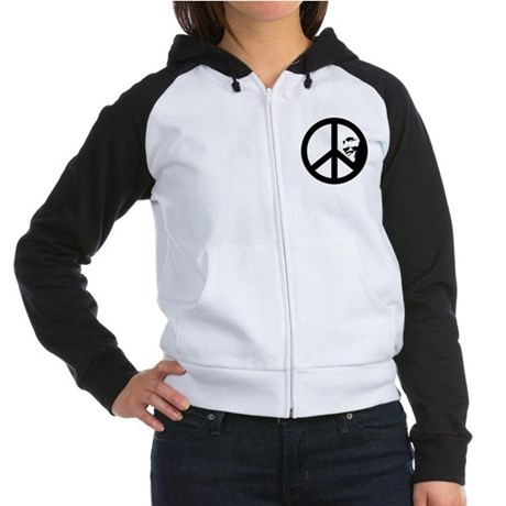 Obama for Peace Womens Raglan Hoodie