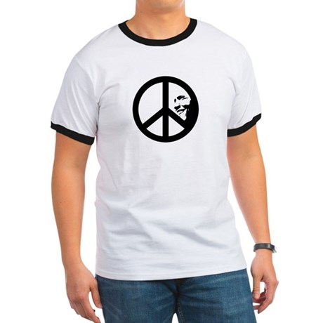 Obama for Peace Ringer T