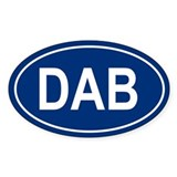 DAB Oval Decal