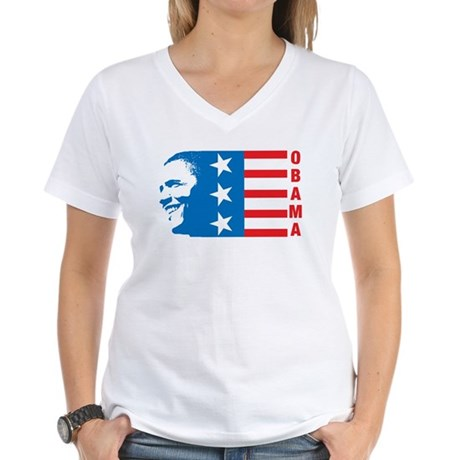 American Obama Womens V-Neck T-Shirt