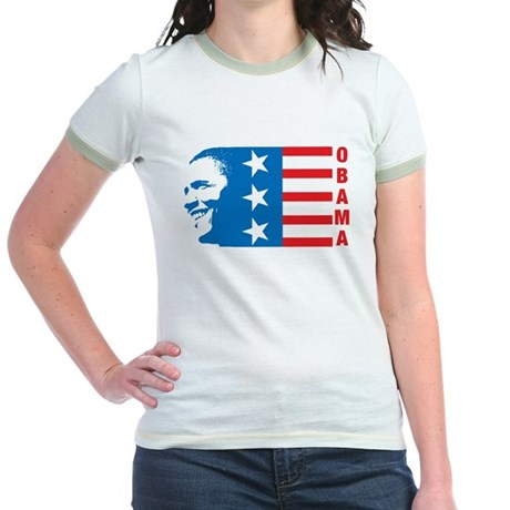 American Obama Jr Ringer T-Shirt