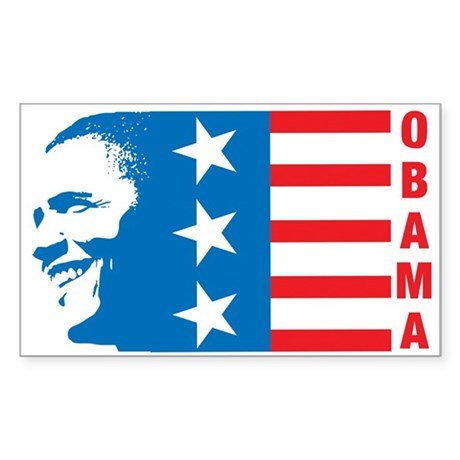 American Obama Rectangle Sticker