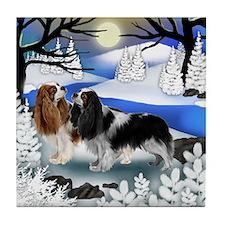 CAVALIER KING CHARLES SPANIEL DOGS Tile Coaster