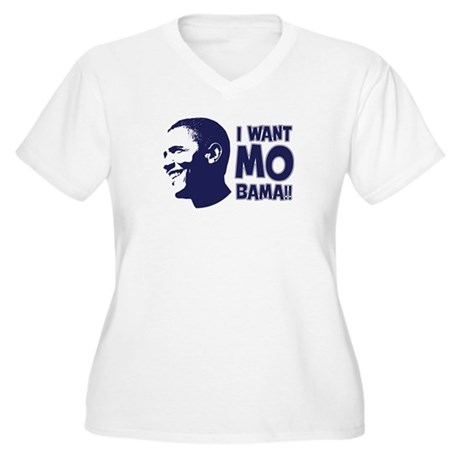I want Mo-Bama Women's Plus Size V-Neck T-Shirt