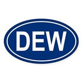 DEW Oval Decal