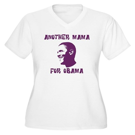 Another Mama for Obama  Womens Plus Size V-Neck T