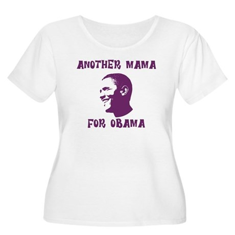 Another Mama for Obama  Womens Plus Size Scoop Ne