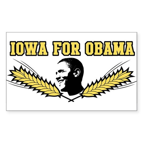 Iowa for Obama Rectangle Sticker