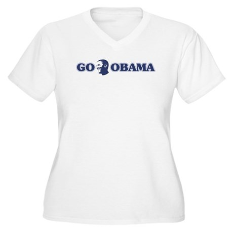 Go Obama Women's Plus Size V-Neck T-Shirt