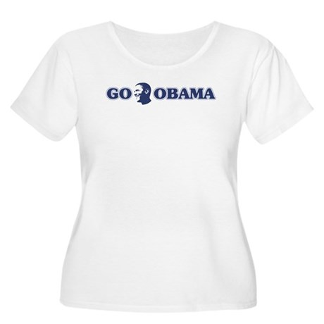 Go Obama Plus Size Scoop Neck Shirt