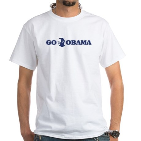 Go Obama White T-Shirt