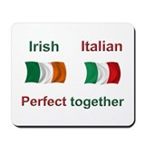 Italian Irish Together Mousepad