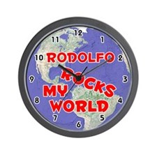 Rodolfo Rocks My World (Red) Wall Clock