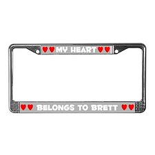 My Heart: Brett (#006) License Plate Frame