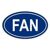 FAN Oval Decal