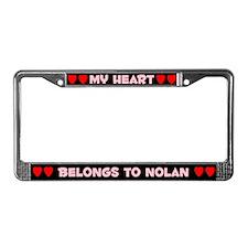 My Heart: Nolan (#002) License Plate Frame