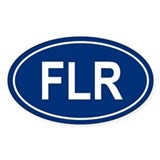 FLR Oval Decal