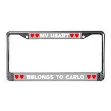 My Heart: Carlo (#006) License Plate Frame