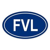 FVL Oval Decal
