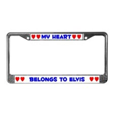 My Heart: Elvis (#005) License Plate Frame