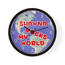 Shawna Rocks My World (Red) Wall Clock