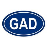 GAD Oval Decal