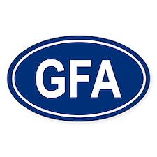 GFA Oval Bumper Stickers