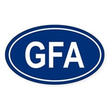 GFA Oval Decal