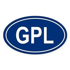 GPL Oval Decal