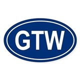 GTW Oval Decal