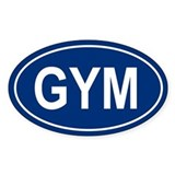 GYM Oval Decal