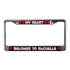 My Heart: Rachelle (#002) License Plate Frame