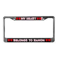 My Heart: Ramon (#002) License Plate Frame