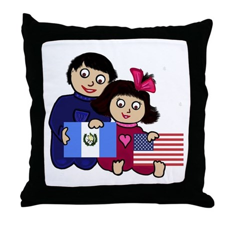 Guat Boy & Girl Throw Pillow