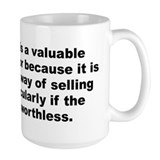 Sinclair lewis quotation Mug