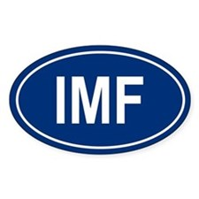 IMF Oval Stickers