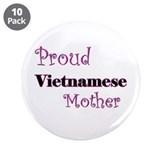 "Proud Vietnamese Mother 3.5"" Button (10 pack)"
