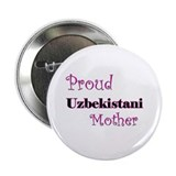 "Proud Uzbekistani Mother 2.25"" Button (10 pack)"