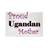 Proud Ugandan Mother Rectangle Magnet (10 pack)