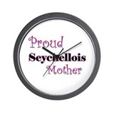 Proud Seychellois Mother Wall Clock