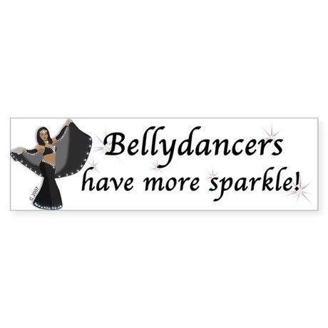 Black Bellydancer Bumper Sticker