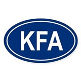 KFA Oval Decal