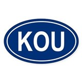 KOU Oval Stickers