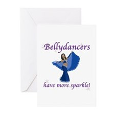 Blue Bellydancer Greeting Cards (Pk of 10)